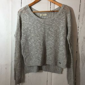 Abercrombie & Fitch Gray Hi Lo Thin Knit Sweater